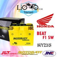 Aki Motor Honda Beat F1 SW Motobatt MTZ5S Aki Kering
