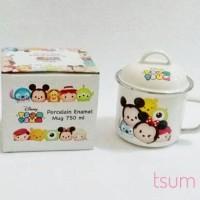 Jual Porcelain enamel mug Disney Tsum Tsum 750 ml Murah
