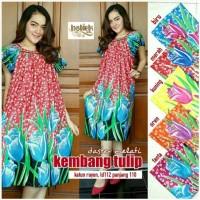 Daster Melati Kembang Tulip, Daster katun motif bunga,Baju ibu hamil
