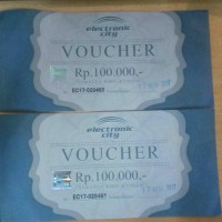 Voucher Electronic City 200rb (2 x100rb) Murah!!
