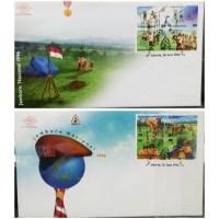 1 Set 2 SHP Perangko Indonesia Jambore Nasional 1996