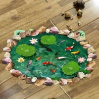 Wallpaper 3D Sticker Dinding 90 x 60cm - WPP001 - Ikan Koi