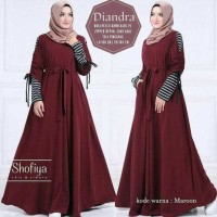 Baju Atasan Muslim Murah / Gamis Murah Diandra Maxi Maroon