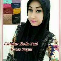 Khimar Roda Pad Press Payet / jilbab instan