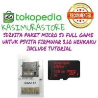 MEMORY CARD PSVITA / SD2VITA PAKET MICRO SD 128GB FULL GAME PS VITA