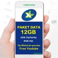 perdana/PAKET DATA INTERNET XL, KUOTA XL XTRA COMBO L 12GB