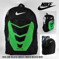 Jual Tas Ransel Backpack Sekolah Pria Nike Max Air Hitam Hijau Hitam Row Murah