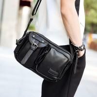 Tas slempang selempang sling bag kulit pria cowok premium impor