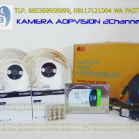 PAKETAN  CCTV AOP VISION 2CHANNEL 1080P 2.0 Megapixel