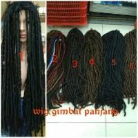 Rambut palsu cowok cewek wig gembel gimbal panjang 100 cm hair clip