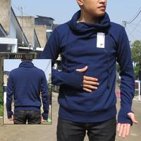 harga Jaket Sweater Rajut Harajuku Greenlight Pria Premium Biru Navy Tokopedia.com
