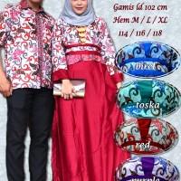 Naura couple  gamis batik sarimbit SGB-46