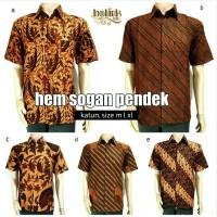 Kemeja Batik Solo. Kemeja Batik Sogan Pendek Series Berkualitas