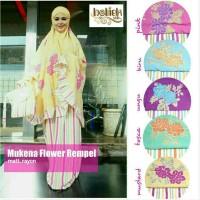 Mukena Bali Rayon. Mukena Flower Rempel Series Limited