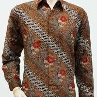 Kemeja Batik Solo. Kemeja Batik Parang Kembang Merah Pa Murah