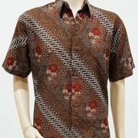 Kemeja Batik Solo. Kemeja Batik Parang Kembang Merah Pe Berkualitas