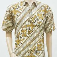 Kemeja Batik Solo. Kemeja Batik Parang Gold Pendek Limited