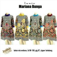 Dress Batik Solo. Tunic Batik Mariana Bunga Series Murah