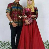 Sarimbit Batik Solo. Couple Gamis Batik Sabrina Pita Se Diskon