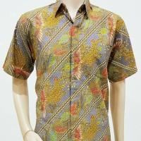 Kemeja Batik Solo. Kemeja Batik Parang Lereng Abu Pende Berkualitas