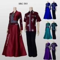 Sarimbit Batik Solo. Couple Gamis Batik Mainaka Series Limited