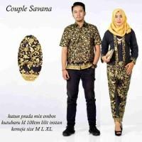 Sarimbit Batik Solo. Couple RnB Batik Savana Prada Lili Limited