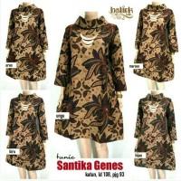 Dress Batik Solo. Tunic Batik Santika Genes Series Limited