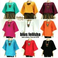 Blus Batik Solo. Blus Emboss Felisha Series Murah