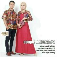 Sarimbit Batik Solo. Couple Gamis Bolero Batik Bellezza Berkualitas