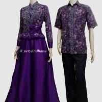 Sarimbit Batik Solo. Couple Gamis Batik Andara Series Limited