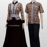 Sarimbit Batik Solo. Couple Gamis Batik Garnisa Series Murah