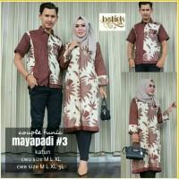 Sarimbit Batik Solo. Couple Tunic Batik Mayapadi 3 Diskon