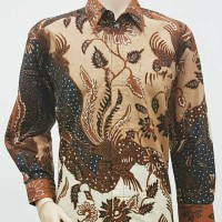 Kemeja Batik Solo. Kemeja Batik Tulis Pola Daun Pjg Limited