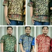Kemeja Batik Solo. Kemeja Batik Motif Mawar Prada Serie Berkualitas