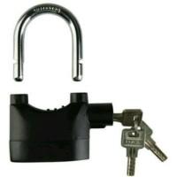 [Wajib Punya] Kinbar Gembok Alarm Lock Kunci Pengaman Rumah Pagar Se