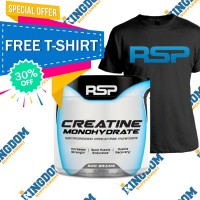 RSP Creatine 500gr FREE T-Shirt + Whey / BCAA / Creatine / Gainer /dll