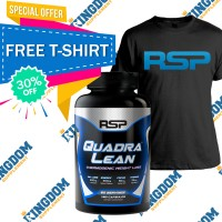 RSP Quadralean Thermogenic 180 caps FREE T-Shirt + Whey / BCAA /dll