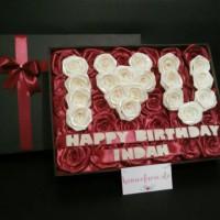 Jual Buket bunga box satin 4 / kado bunga / hadiah wisuda Murah