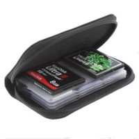 SD SDHC MMC CF Micro SD Memory Card Storage Carrying Pouch Case Holder