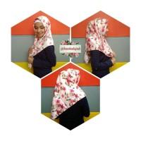 Jual Hijab Segiempat Motif Bunga Satin Maxmara Murah