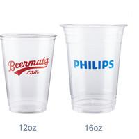 cup plastik sablon 2 sisi 1 warna 8 gram 12 oz