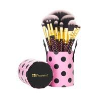 BH COSMETICS 11 pcs Pink-A-Dot black Makeup Brush Set