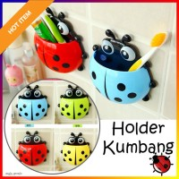 Tempat Sikat Gigi Kumbang Lady Bug Organizer Odol Tooth Brush Holder