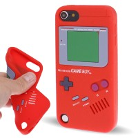 SS4809 - GAMEBOY SILICONE CASE IPOD TOUCH 5 / 6 RED