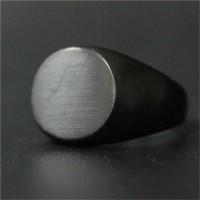 Jual Cincin Titanium Black Jade Ring Oval Plate Cincin wanita Biker Jewelry Murah