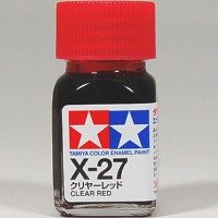 TAMIYA ENAMEL X27 X 27 X-27 COLOR CLEAR RED PAINT