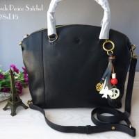 Tory Burch Peace Satchel Black Handbag Tas Hitam Original Ori Murah