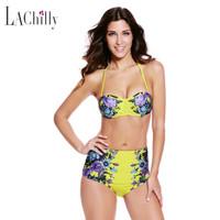 Jual Bikini High Waist Big Size Jumbo XL XXL Push Up Kawat Swimsuit Murah