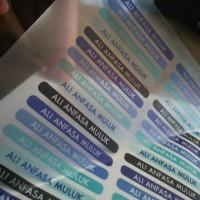 Jual (Cetak) Stiker Vinyl Transparant A3+ Murah