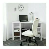 Jual IKEA BRUSALI Meja Sudut, Meja Komputer, Meja Kerja, Meja Belajar Putih Murah